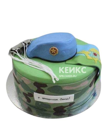 Торт ВДВ с голубым беретом