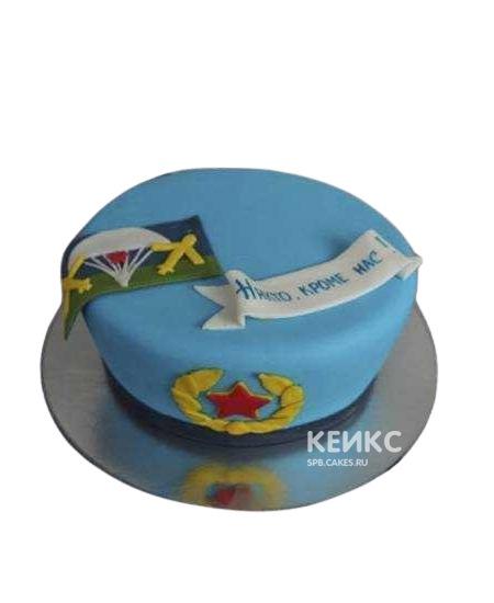 Торт ВДВ в виде голубого берета
