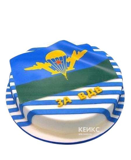 Полосатый торт с эмблемой ВДВ