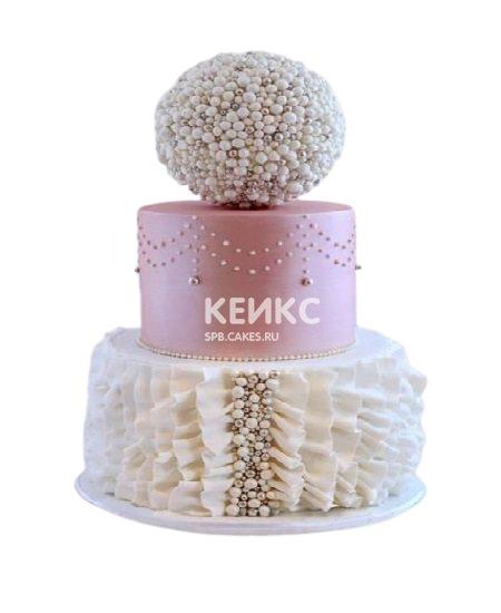 Необычный трехъярусный торт на юбилей девушке 30 лет