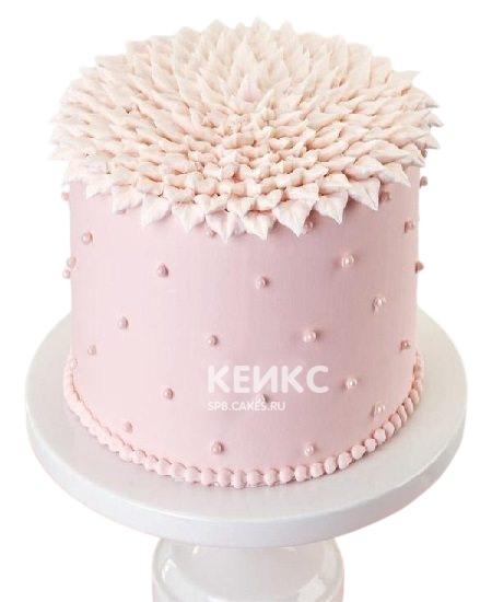 Необычный розовый торт на юбилей женщине 40 лет