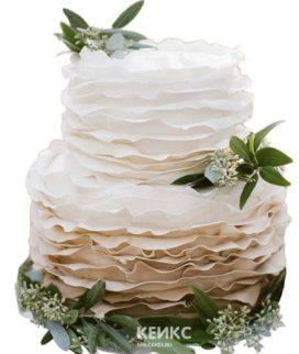 Торт на юбилей женщине 40 лет с зелеными листочками