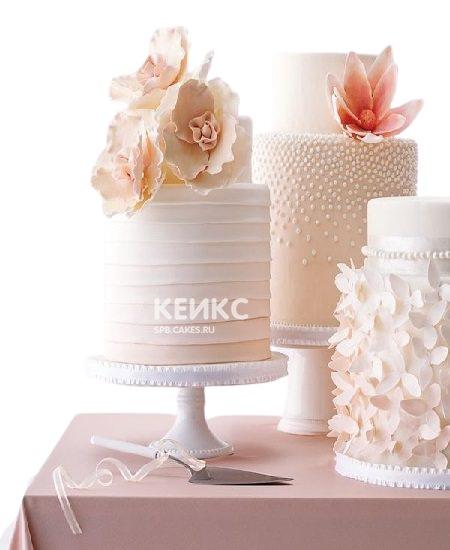 Торт с нежными цветами на юбилей женщине 50 лет