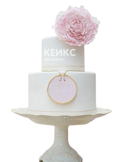 Красивый торт женщине на юбилей 55 лет