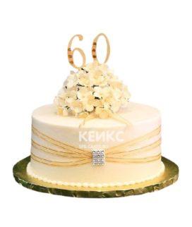 Красивый юбилейный торт женщине на 60 лет