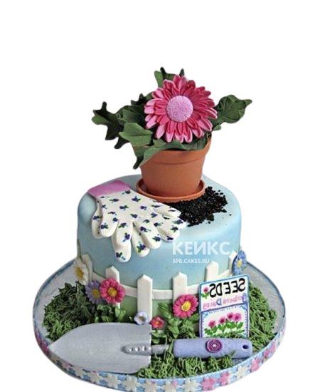 Торт на тему садоводства на юбилей женщине 65 лет