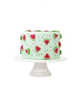 Торт с дольками арбуза