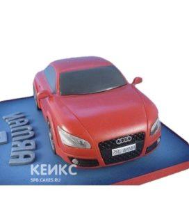 Торт в виде красной ауди