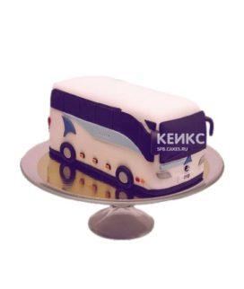 Торт в виде пассажирского автобуса