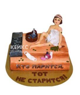 Торт баня девушка в парилке