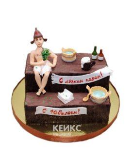 Торт баня с атрибутами и надписью