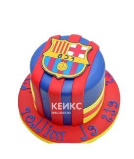 Торт с гербом ФК Барселона и надписью