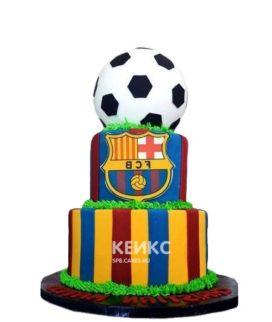Торт в стиле футбольного клуба Барселона