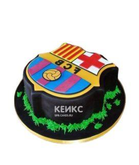 Торт ФК Барселона в виде эмблемы клуба