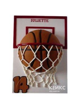 Торт баскетбол мяч в кольце
