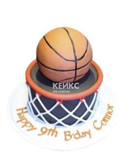 Торт баскетбольный мяч и кольцо