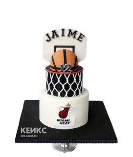 Торт баскетбольный мяч и щит с кольцом