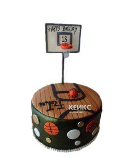 Торт в виде баскетбольной площадки