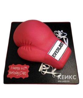 Торт бокс в виде боксерской перчатки
