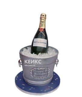 Торт бутылка шампанского со льдом