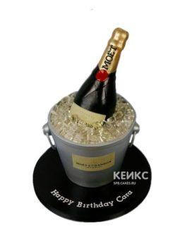 Торт бутылка шампанского в ведре