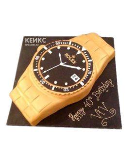 Оригинальный торт часы на день рождения