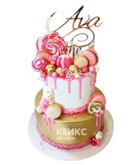 Торт со сладостями на 10 лет девочке
