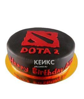 Торт Дота 2 черно-красный