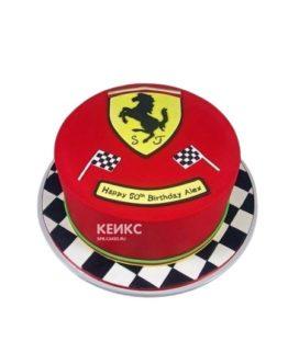 Торт феррари красный с логотипом