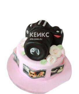 Торт в виде фотоаппарата для фотографа