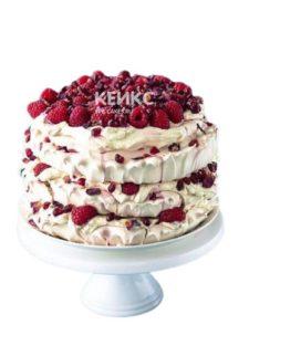 Кремовый фруктовый торт на день рождения