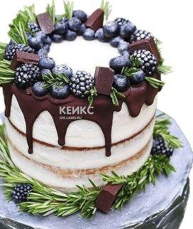 Фруктовый торт с шоколадом на день рождения
