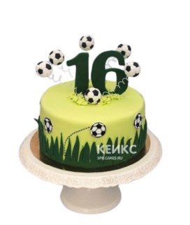 Торт для мальчика на День Рождения на тему футбола