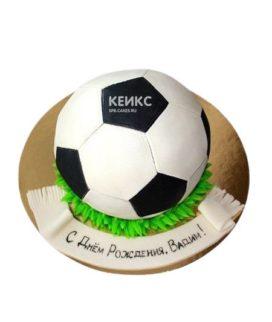 Спортивный торт в виде футбольного мяча