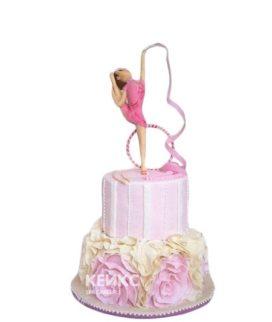 Торт гимнастика девочка с обручем