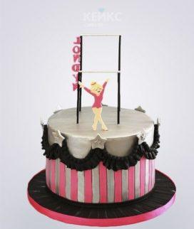 Торт Гимнастка для девочки на день рождения