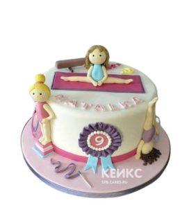 Торт Гимнастика для девочки на день рождения