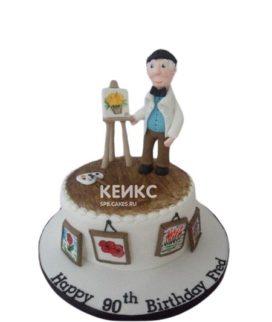 Торт с фигуркой и картинами
