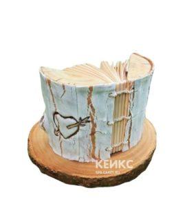Торт книга с сердечком для девочки