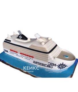 Торт в виде круизного корабля