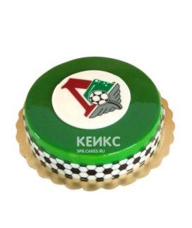 Зеленый футбольный торт Локомотив