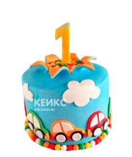 Детский торт машинки для мальчика на день рождения