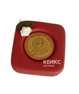 Торт с украшением - медаль