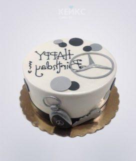Торт мерседес белый со знаком