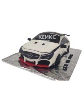 Торт черно-белый мерседес