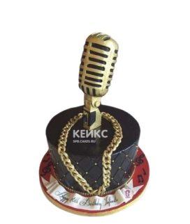 Торт золотой микрофон