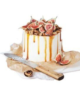 Торт на юбилей мужчине 40 лет белый с фруктами