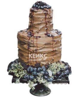 Торт с виноградом на юбилей мужчине 50 лет