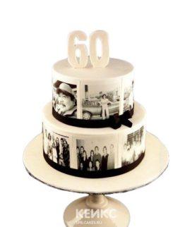 Торт на юбилей мужчине 60 лет с фотографиями