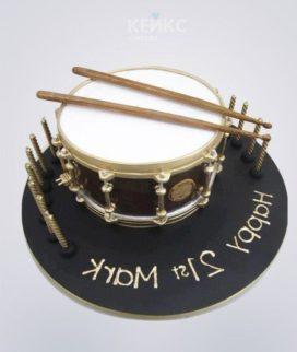 Торт музыка в виде барабана